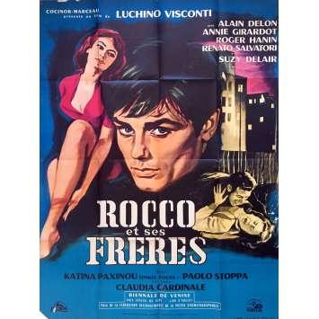 ROCCO ET SES FRERES Affiche de film 120x160 cm - 1960 - Alain Delon, Luchino Visconti