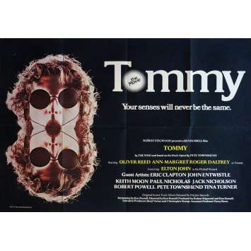 TOMMY Movie Poster 30x40 in. British - 1975 - Ken Russel, The Who