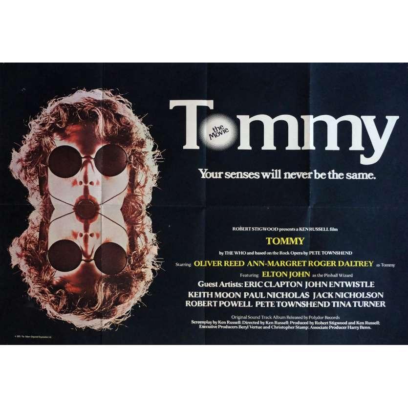 TOMMY Affiche de film 72x104 cm - 1975 - The Who, Ken Russel