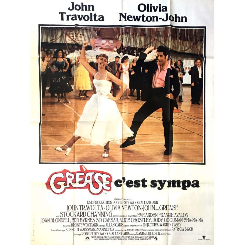 GREASE French Movie Poster 47x63 FR '78 John Travolta