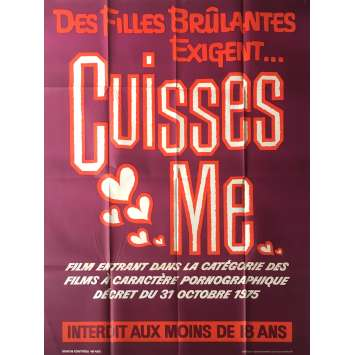 CUISSES ME Affiche de film érotique 120x160 cm - 1977 - Siegfried Cellier, Henri Sala