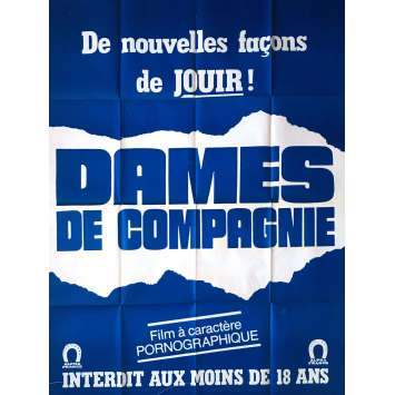 DAMES DE COMPAGNIE Adult Movie Poster 47x63 in. - 1982 - Claude Bernard-Aubert, Elisabeth Buré