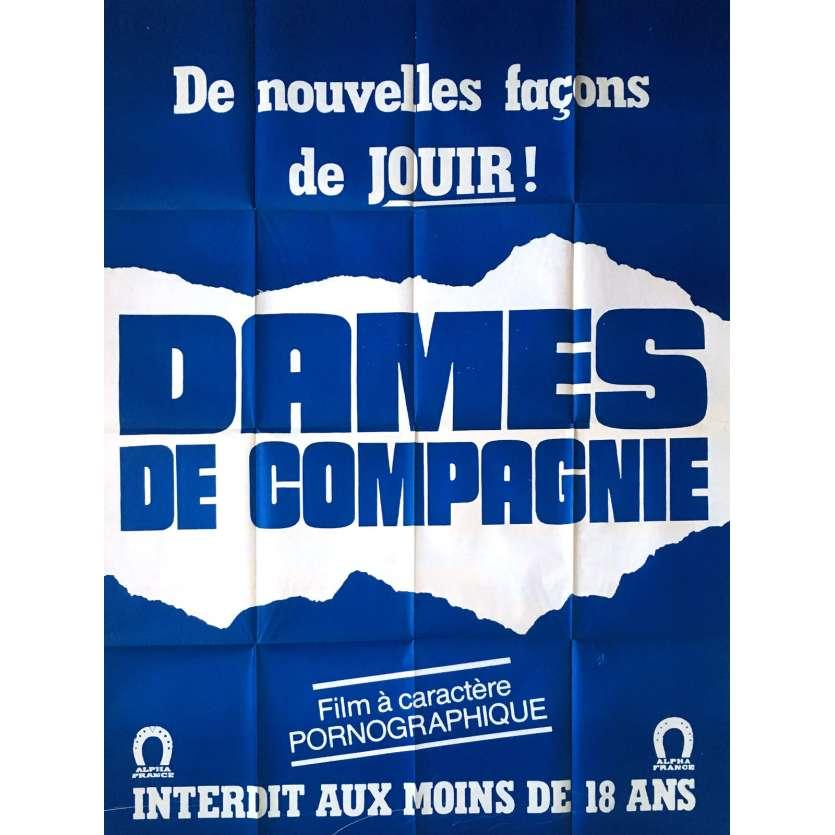 DAMES DE COMPAGNIE Affiche de film érotique 120x160 cm - 1982 - Elisabeth Buré, Claude Bernard-Aubert