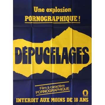 DEPUCELAGES Affiche de film érotique 120x160 cm - 1978 - Ricjhard Allan, Jean-Claude Roy