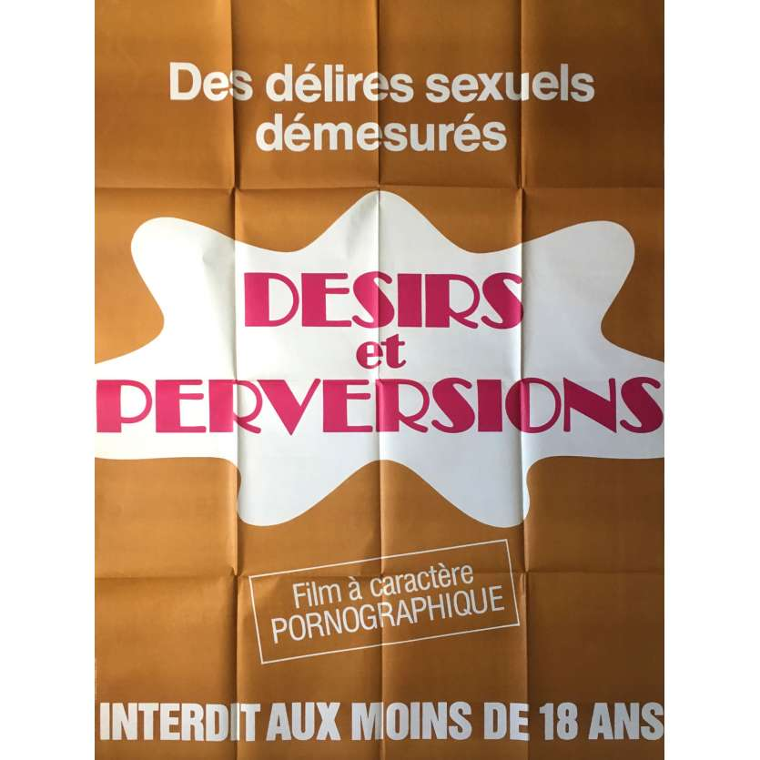 DESIRS ET PERVERSIONS Adult Movie Poster 47x63 in. - 1977 - Jean-Marie Ghanassia, Cathy Castel