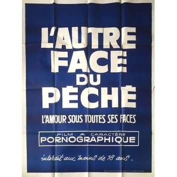 L'AUTRE FACE DU PECHE Affiche de film érotique 120x160 cm - 1969 - Nico Rienzi, Marcello Avallone