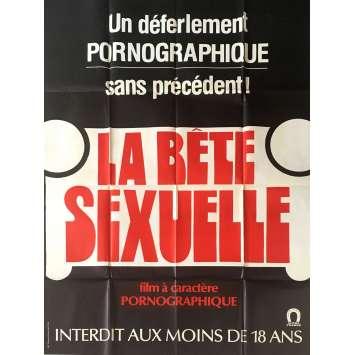 LA BETE SEXUELLE Affiche de film érotique 120x160 cm - 1977 - Carol Ludwig, Anthony Spinelli