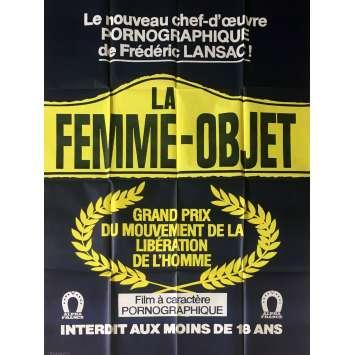 LA FEMME OBJET Affiche de film érotique 120x160 cm - 1980 - Marylin Jess, Frédéric Lansac