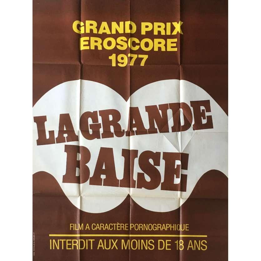 LA GRANDE BAISE Affiche de film érotique 120x160 cm - 1977 - Guy Royer, Frédéric Lansac