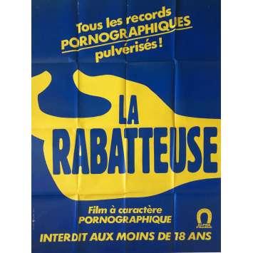LA RABATEUSE Affiche de film érotique 120x160 cm - 1978 - Brigitte Lahaie, Burd Trandbaree