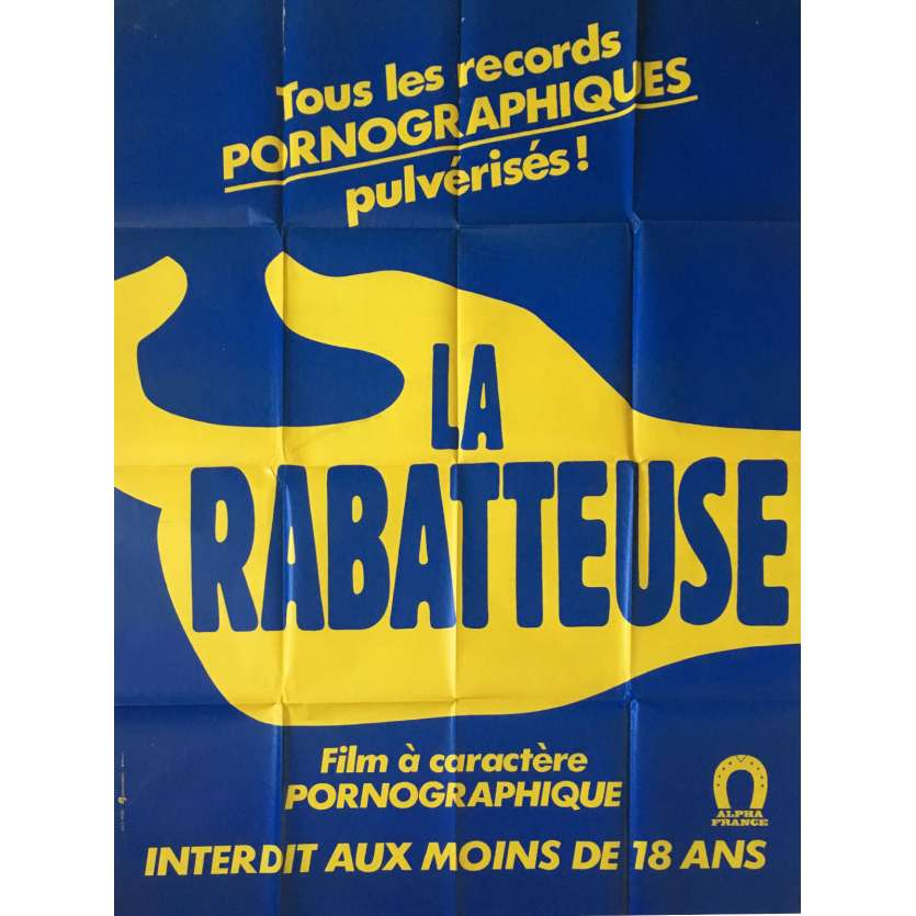 LA RABATEUSE Adult Movie Poster 47x63 in. - 1978 - Burd Trandbaree, Brigitte Lahaie
