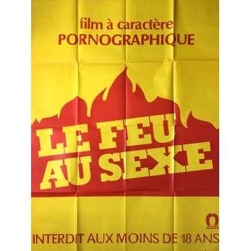 LE FEU AU SEXE Affiche de film érotique 120x160 cm - 1978 - Vicky Lyon, Anthony Spinelli