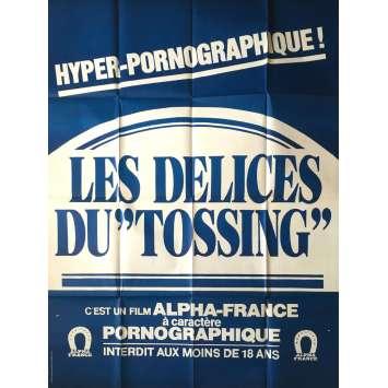 LES DELICES DU TOSSING Affiche de film érotique 120x160 cm - 1983 - Catherine Greiner, Gérard Kikoïne