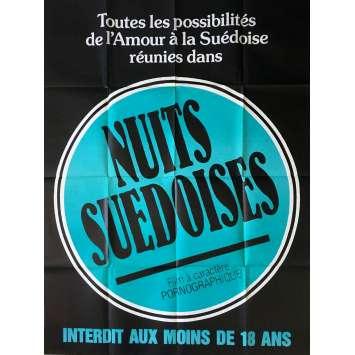 NUITS SUEDOISES Affiche de film érotique 120x160 cm - 1976 - Siegfried Cellier, Jean-Claude Roy