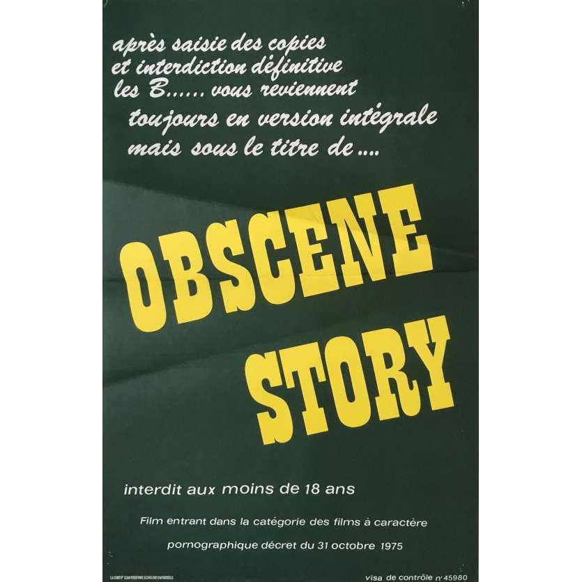 OBSCENE STORY Affiche de film érotique 40x60 cm - 1976 - Martine Grimaud, Henri Sala