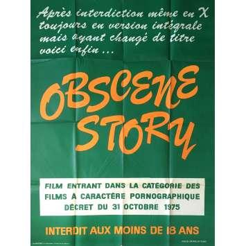 OBSCENE STORY Adult Movie Poster 47x63 in. - 1976 - Henri Sala, Martine Grimaud