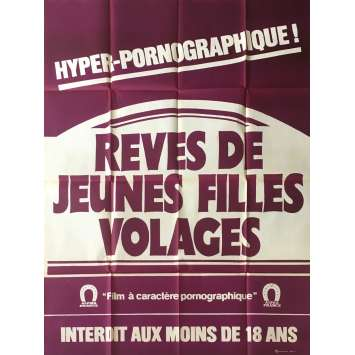 REVES DE JEUNES FILLES VOLAGES Adult Movie Poster 47x63 in. - 1981 - Aloïs Brummer, Adi Apfell