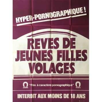 REVES DE JEUNES FILLES VOLAGES Affiche de film érotique 120x160 cm - 1981 - Adi Apfell, Aloïs Brummer
