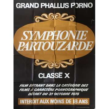 SYMPHONIE PARTOUZARDE Affiche de film érotique 120x160 cm - 1979 - Richard Allan, Job Blough