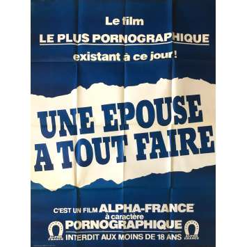 UNE EPOUSE A TOUT FAIRE Adult Movie Poster 47x63 in. - 1982 - Jean-Claude Roy , Carole Piérac