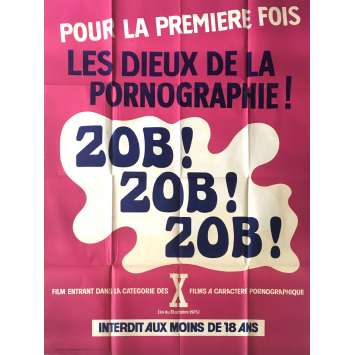 ZOB ZOB ZOB Adult Movie Poster 47x63 in. - 1978 - Maxime Debest, Martine Semo