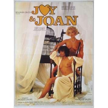 JOY ET JOAN Affiche de film 40x60 cm - 1985 - Brigitte Lahaie, Jacques Saurel