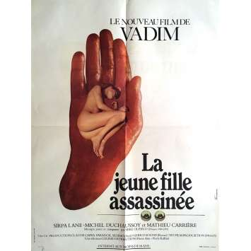LA JEUNE FILLE ASSASSINEE Affiche de film 60x80 cm - 1974 - Sirpa Lane, Roger Vadim