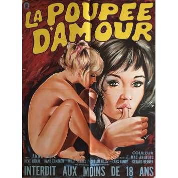 LA POUPEE D'AMOUR Affiche de film 60x80 cm - 1970 - Anna Gaël, Mac Ahlberg