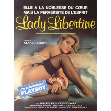 LADY LIBERTINE Movie Poster 15x21 in. - 1984 - Gérard Kikoïne, Sophie Favier