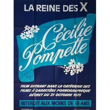 CECILIE POMPETTE Affiche de film érotique 120x160 cm - 1977 - Martine Grimaud, Daniel Daërt