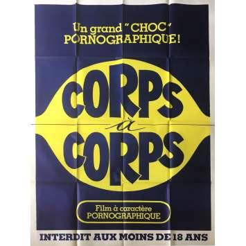 CORPS A CORPS Affiche de film érotique 120x160 cm - 1977 - Alban Ceray, Jean-Claude Roy