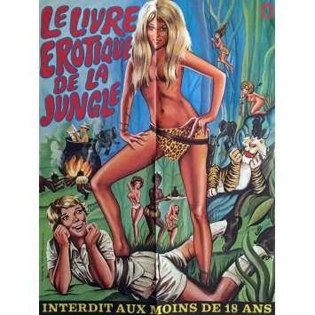 LE LIVRE EROTIQUE DE LA JUNGLE Affiche de film 60x80 cm - 1970 - Julie Conners, Jonathan Lucas