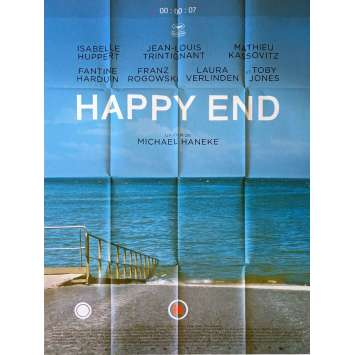 HAPPY END Movie Poster - 47x63 in. - 2017 - Michael Haneke, Isabelle Huppert