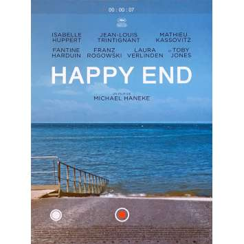 HAPPY END Movie Poster - 15x21 in. - 2017 - Michael Haneke, Isabelle Huppert