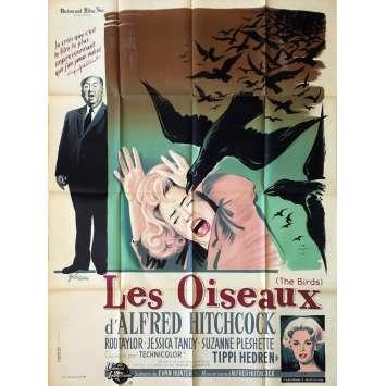 LES OISEAUX Affiche de film - 120x160 cm. - 1963 - Tippi Hedren, Alfred Hitchcock