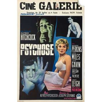 PSYCHOSE Affiche de film - 35x55 cm. - 1960 - Anthony Perkins, Alfred Hitchcock
