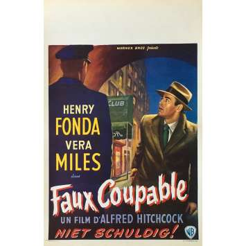 FAUX COUPABLE Affiche de film - 35x55 cm. - 1956 - Henry Fonda, Alfred Hitchcock