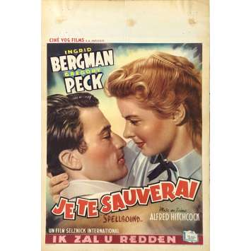 SPELLBOUND Movie Poster - 14x21 in. - 1945 - Alfred Hitchcock, Ingrid Bergman
