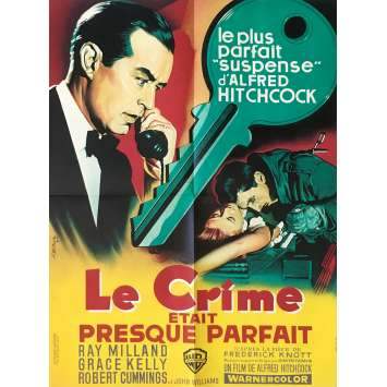 LE CRIME ETAIT PRESQUE PARFAIT Affiche de film - 60x80 cm. - 1954 - Grace Kelly, Alfred Hitchcock