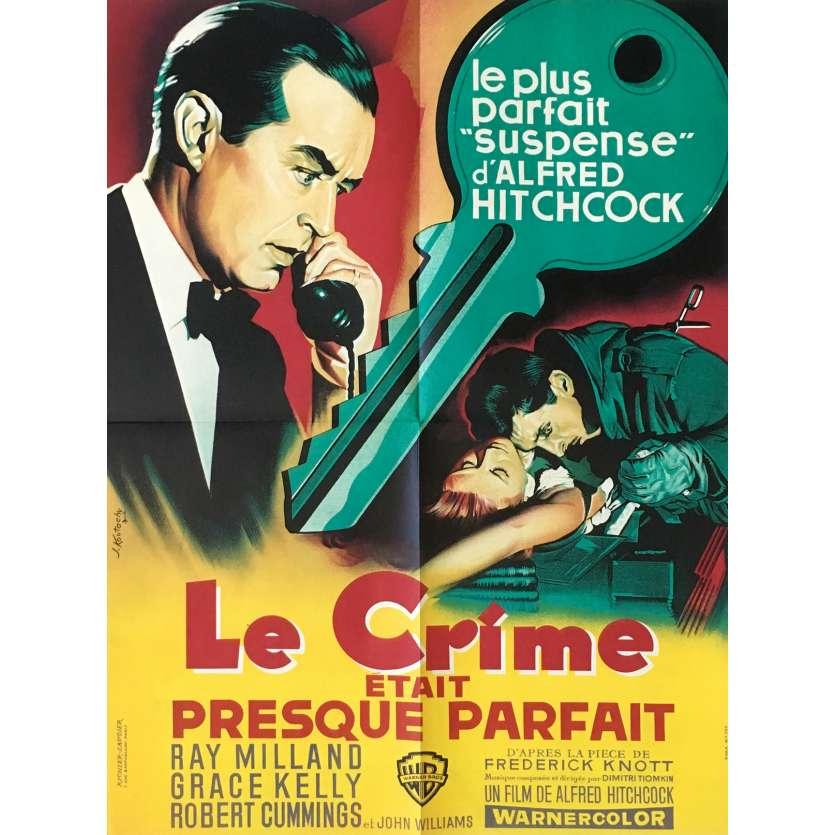 Quand on a trois jours tranquille.... - Page 2 Le-crime-etait-presque-parfait-affiche-de-film-60x80-cm-1954-grace-kelly-alfred-hitchcock