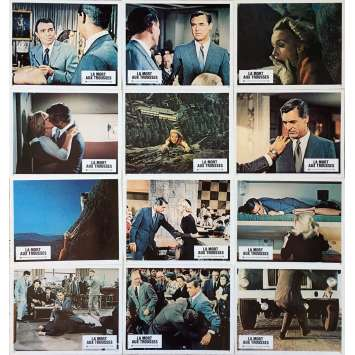 NORTH BY NORTWEST Lobby Cards x12 - 9x12 in. - R1980 - Alfred Hitchcock, Cary Grant