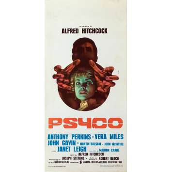 PSYCHO Movie Poster - 13x28 in. - 1960 - Alfred Hitchcock, Anthony Perkins
