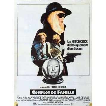 COMPLOT DE FAMILLE Affiche de film - 40x60 cm. - 1976 - Bruce Dern, Alfred Hitchcock