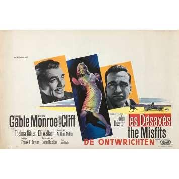 LES DESAXES Affiche de film - 35x55 cm. - 1961 - Marilyn Monroe, John Huston