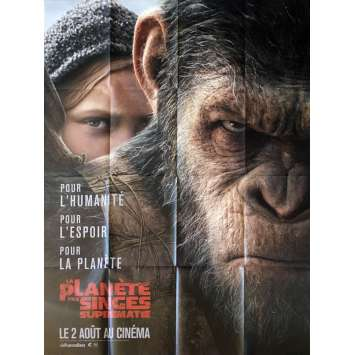 WAR FOR THE PLANET OF THE APES Movie Poster 47x63 in. - 2017 - Matt Reeves, Andy Serkis