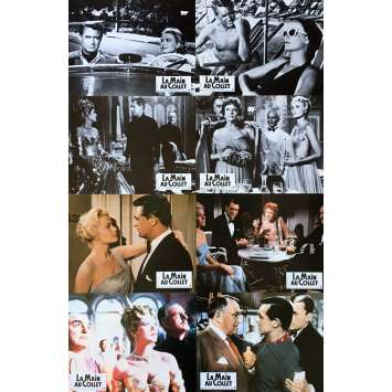 TO CATCH A THIEF Lobby Cards x8 - 9x12 in. - R1980 - Alfred Hitchcock, Cary Grant