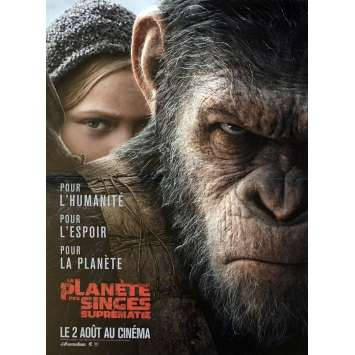 WAR FOR THE PLANET OF THE APES Movie Poster 15x21 in. - 2017 - Matt Reeves, Andy Serkis