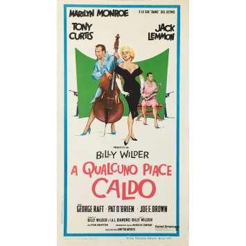 CERTAINS L'AIMENT CHAUD Affiche de film - 33x71 cm. - 1959 - Marilyn Monroe, Billy Wilder