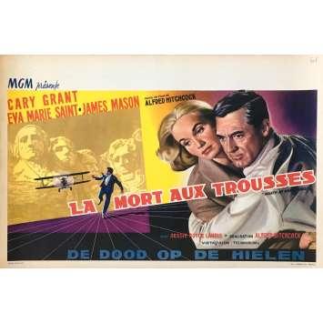 LA MORT AUX TROUSSES Affiche de film - 35x55 cm. - 1959 - Cary Grant, Alfred Hitchcock