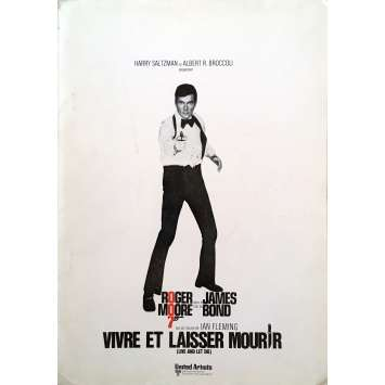 LIVE AND LET DIE Pressbook - 9x12 in. - 1973 - Guy Hamilton, Roger Moore